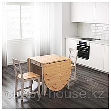 ГЭМЛЕБИ Стол складной, светлая морилка антик, серый, 67/134/201x78 см, фото 3
