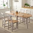 ГЭМЛЕБИ Стол складной, светлая морилка антик, серый, 67/134/201x78 см, фото 5
