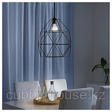 БРЮНСТА Абажур для подвесн светильника, черный, 30 см, фото 3
