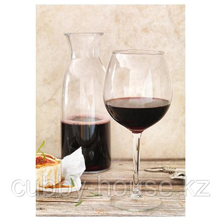 ХЕДЕРЛИГ Бокал для красного вина, прозрачное стекло, 59 сл, фото 2