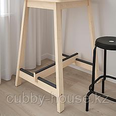 НОРРОКЕР Барный стол, береза, 74x74 см, фото 2