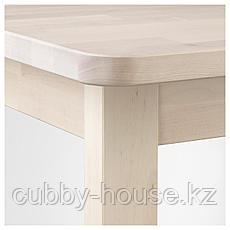 НОРРОКЕР Барный стол, береза, 74x74 см, фото 3