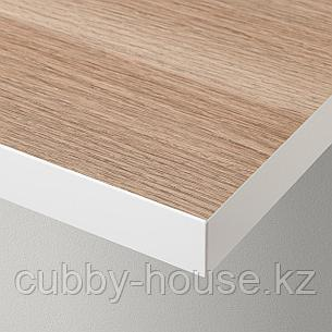 ЛИННМОН Столешница, белый, под беленый дуб, 100x60 см, фото 2