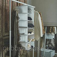 СТУК Модуль для хранения/7 отделений, белый/серый, 30x30x90 см, фото 3