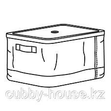 РАБЛА Коробка с крышкой, 25x35x20 см, фото 2
