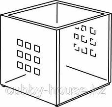 ЛЕКМАН Контейнер, белый, 33x37x33 см, фото 3