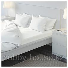 УЛЛЬВИДЕ Простыня натяжная, белый, 140x200 см, фото 3