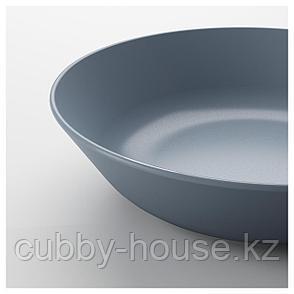 ДИНЕРА Тарелка глубокая, серо-синий, 22 см, фото 2