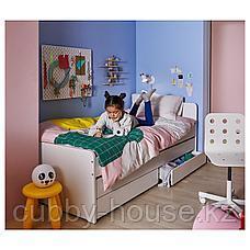 СЛЭКТ Каркас кровати с выдвижной кроватью, белый, 90x200 см, фото 2