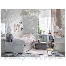 СЛЭКТ Каркас кровати с выдвижной кроватью, белый, 90x200 см, фото 3