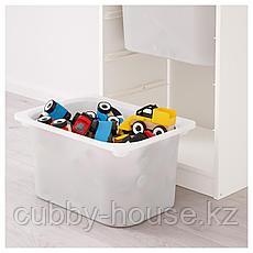 ТРУФАСТ Комбинация д/хранения+контейнеры, белый, белый, 46x30x94 см, фото 3