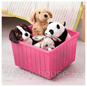 ВЕССЛА Ящик на колесах, светло-розовый, 39x39 см, фото 2