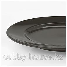 ВАРДАГЕН Тарелка десертная, темно-серый, 21 см, фото 2