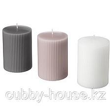 БЛОМДОРФ Формовая свеча, ароматическая, Гладиолус, серый, 10 см, фото 2