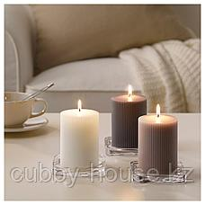 БЛОМДОРФ Формовая свеча, ароматическая, Гладиолус, серый, 10 см, фото 3