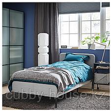 СЛАТТУМ Каркас кровати с обивкой, Книса светло-серый, 90x200 см, фото 3