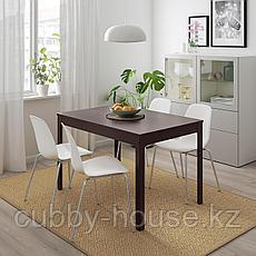 ЭКЕДАЛЕН / ЛЕЙФ-АРНЕ Стол и 4 стула, темно-коричневый, белый, 120/180 см, фото 3