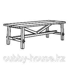 СКОГСТА Стол обеденный, акация, 235x100 см, фото 2