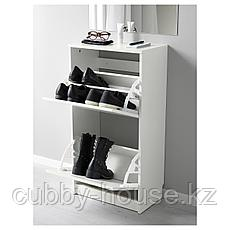 БИССА Галошница с 2 отделениями, белый, 49x93 см, фото 2