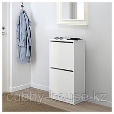 БИССА Галошница с 2 отделениями, белый, 49x93 см, фото 3