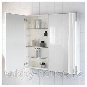 СТОРЙОРМ Зеркальн шкафчик/2дверцы/подсветка, белый, 100x14x96 см, фото 2