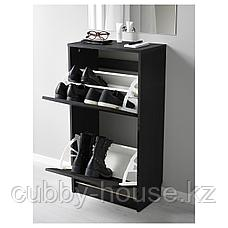 БИССА Галошница с 2 отделениями, черный, коричневый, 49x93 см, фото 2