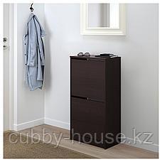 БИССА Галошница с 2 отделениями, черный, коричневый, 49x93 см, фото 3