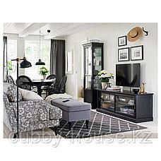 МАЛЬШЁ Шкаф-витрина, черная морилка, 60x40x186 см, фото 2