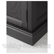 МАЛЬШЁ Шкаф-витрина, черная морилка, 60x40x186 см, фото 3