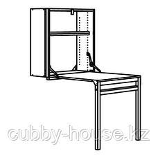 ИВАР Модуль д/хранения/складной стол, сосна, 80x30-104x155 см, фото 2