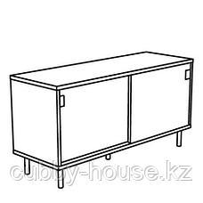 МАККАПЭР Скамья с отделениями д/хранения, белый, 100x51 см, фото 2
