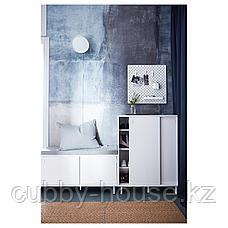 МАККАПЭР Скамья с отделениями д/хранения, белый, 100x51 см, фото 3