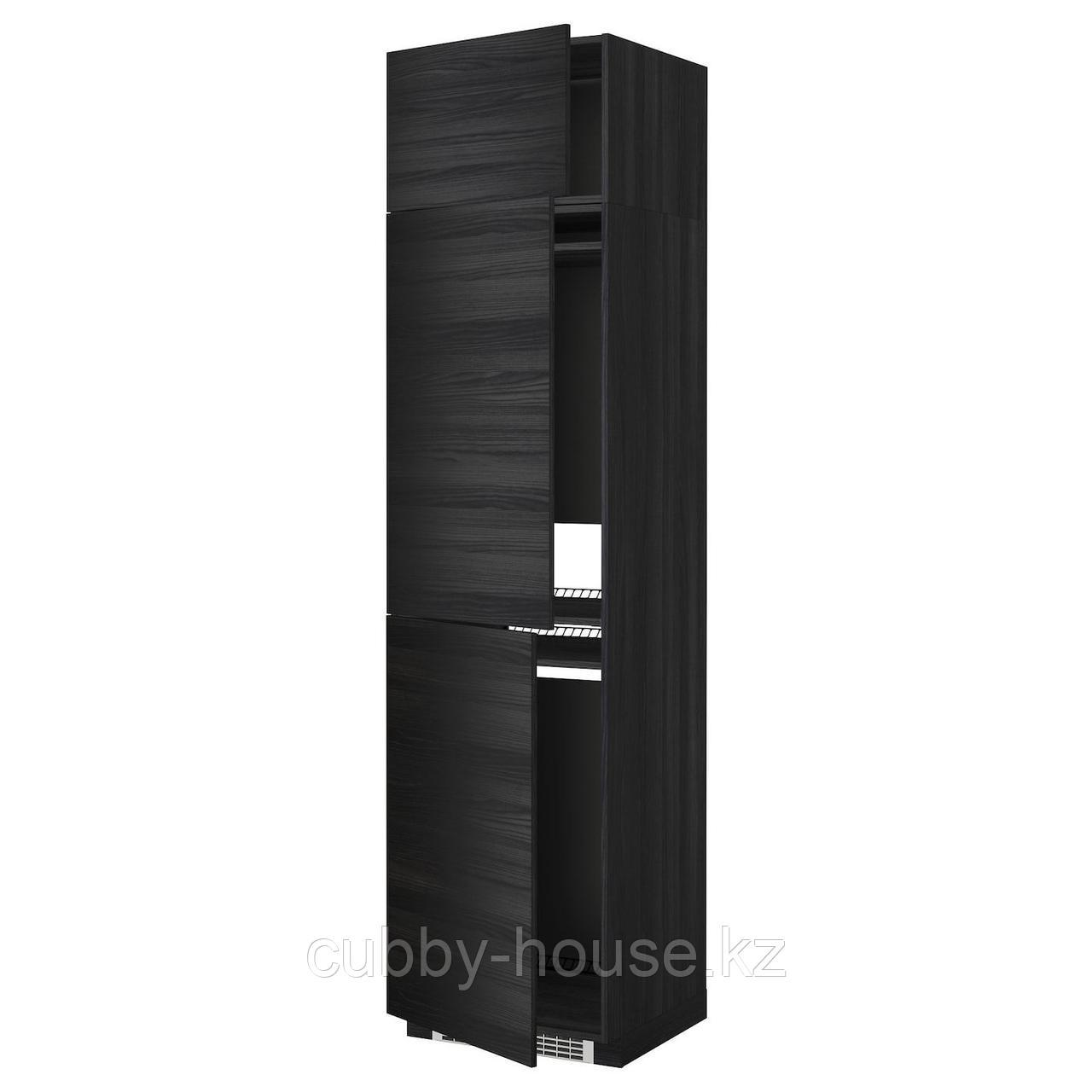 МЕТОД Выс шкаф для хол/мороз с 3 дверями, белый, Рингульт белый, 60x60x240 см