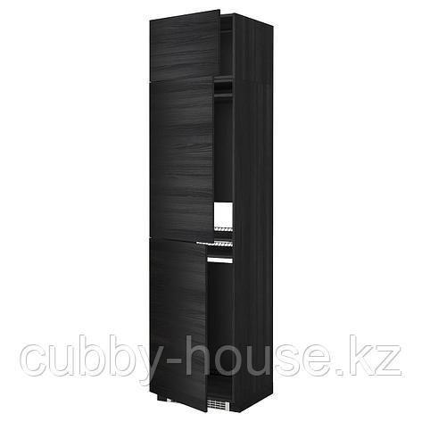 МЕТОД Выс шкаф для хол/мороз с 3 дверями, белый, Рингульт белый, 60x60x240 см, фото 2