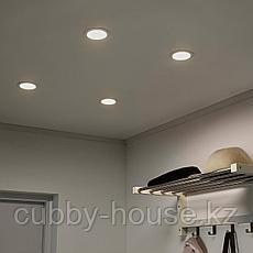 ЛАКЭНЕ Светодиодный встраиваемый софит, молочный, фото 3