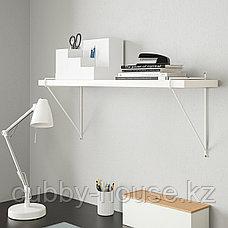 БЕРГСХУЛЬТ / ПЕРСГУЛЬТ Полка навесная, белый, белый, 80x20 см, фото 3