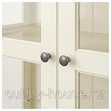 ЛИАТОРП Шкаф-витрина, белый, 96x214 см, фото 3