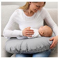 ЛЕН Подушка для кормления, серый, 60x50x18 см, фото 2