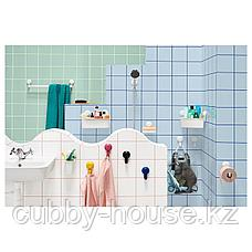 ТИСКЕН Вешалка д/полотенец на присоске, белый, фото 3