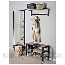 ЧУСИГ Скамья с полкой для обуви, черный, 81x50 см, фото 2