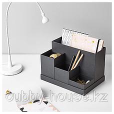 ТЬЕНА Подставка д/канцелярских принадлежн, черный, 18x17 см, фото 3