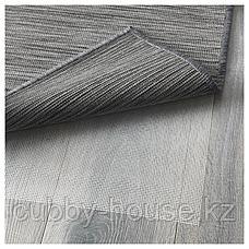 ХОДДЕ Ковер безворсовый, д/дома/улицы, серый, черный, 200x300 см, фото 2