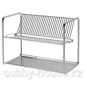 ОРДНИНГ Сушилка посудная, нержавеющ сталь, 50x27x36 см, фото 2