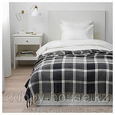 КАВЕЛЬДУН Плед, серый, белый с оттенком, 130x180 см, фото 2