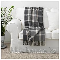 КАВЕЛЬДУН Плед, серый, белый с оттенком, 130x180 см, фото 3