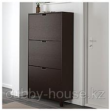 СТЭЛЛ Галошница,3 отделения, черно-коричневый, 79x148 см, фото 3