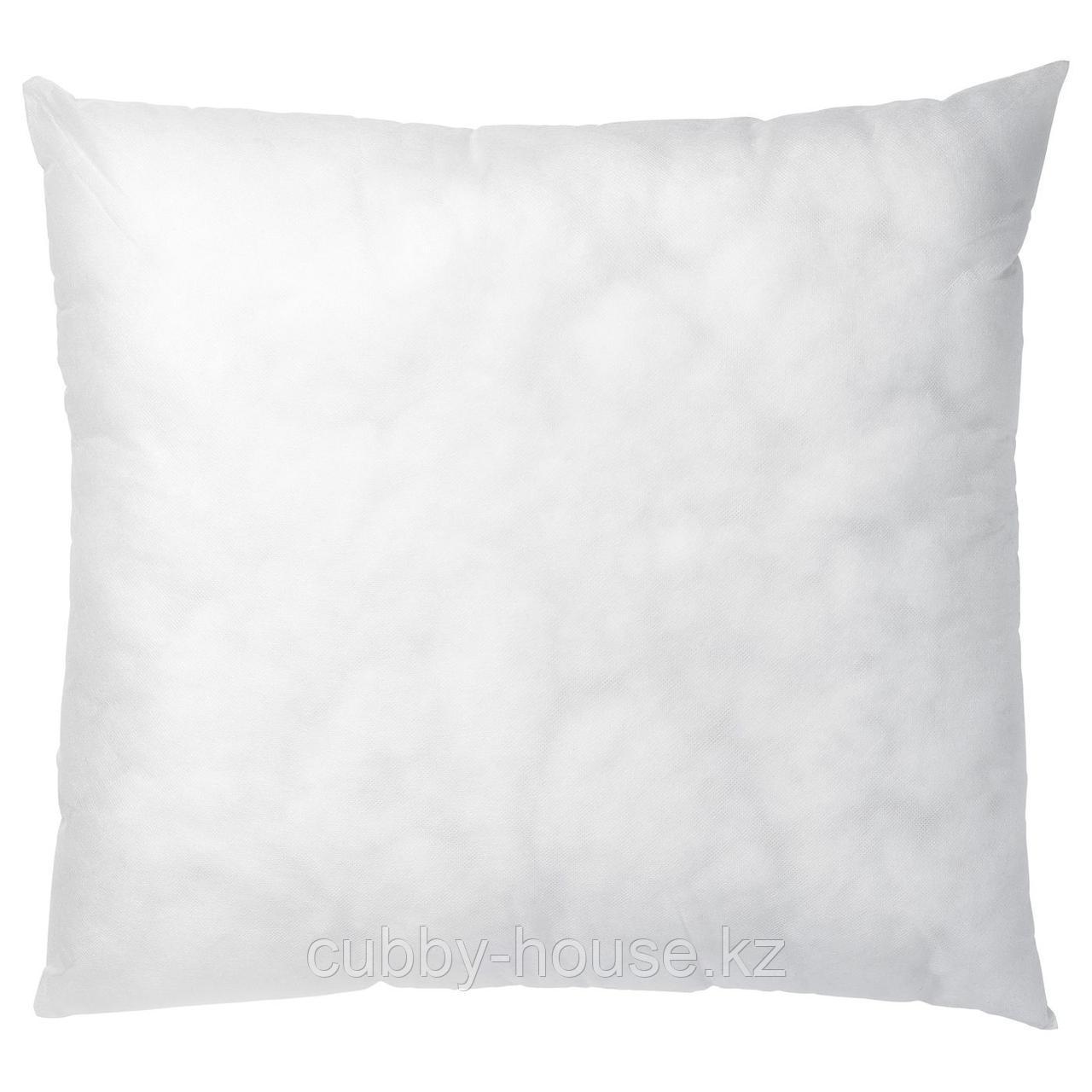 ИННЕР Подушка, белый, 50x50 см