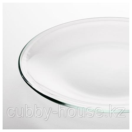 ОППЕН Тарелка, прозрачное стекло, 19 см, фото 2