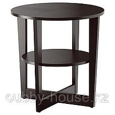ВЕЙМОН Придиванный столик, черно-коричневый, 60 см, фото 2