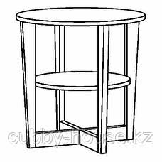ВЕЙМОН Придиванный столик, черно-коричневый, 60 см, фото 3